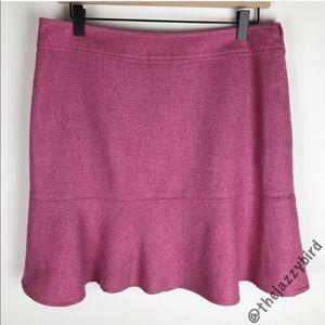 Gap Light Pink Wool Trumpet Mini Skirt